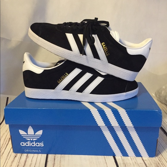 a2004a903c57 Brand New w Box Adidas Gazelle Black White Suede